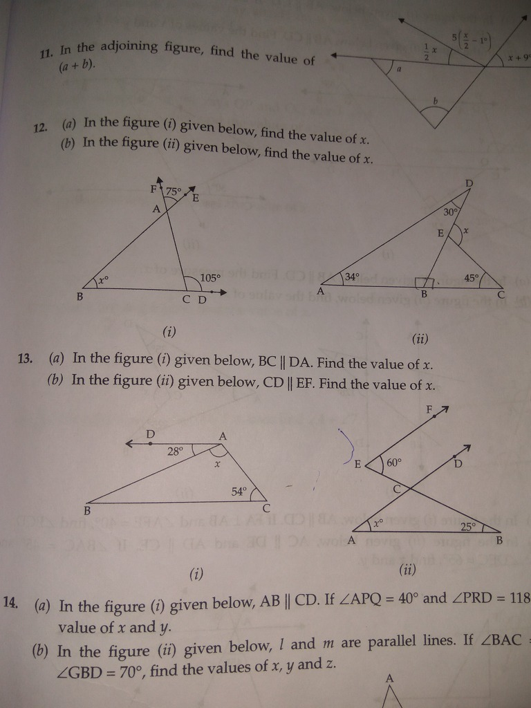PleaSe tell question 12 and 13 both parts 11 In the