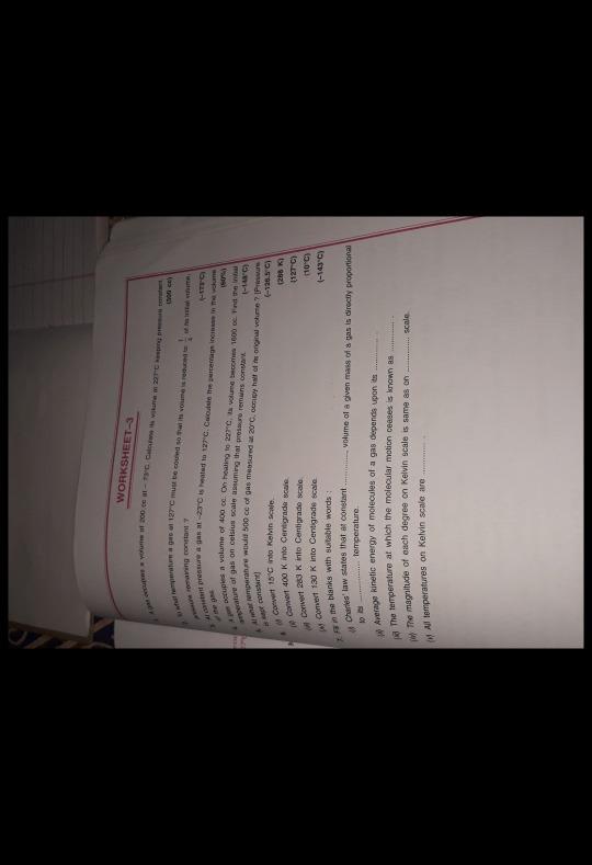 Answer of 3,4,5 numerical plzzzzz - Chemistry - Study of Gas