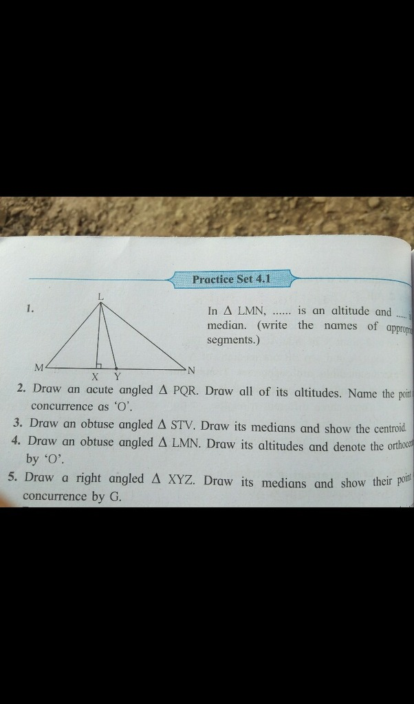 Draw Acute Angled Triangle Pqr Practice Set 4 1 In A Lmn Is An