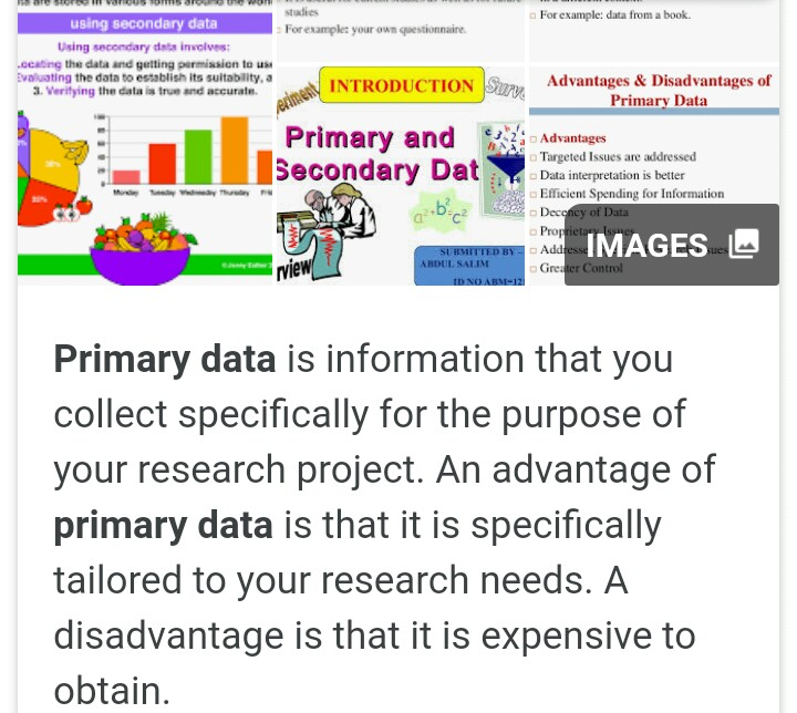 what are the advantages of primary data