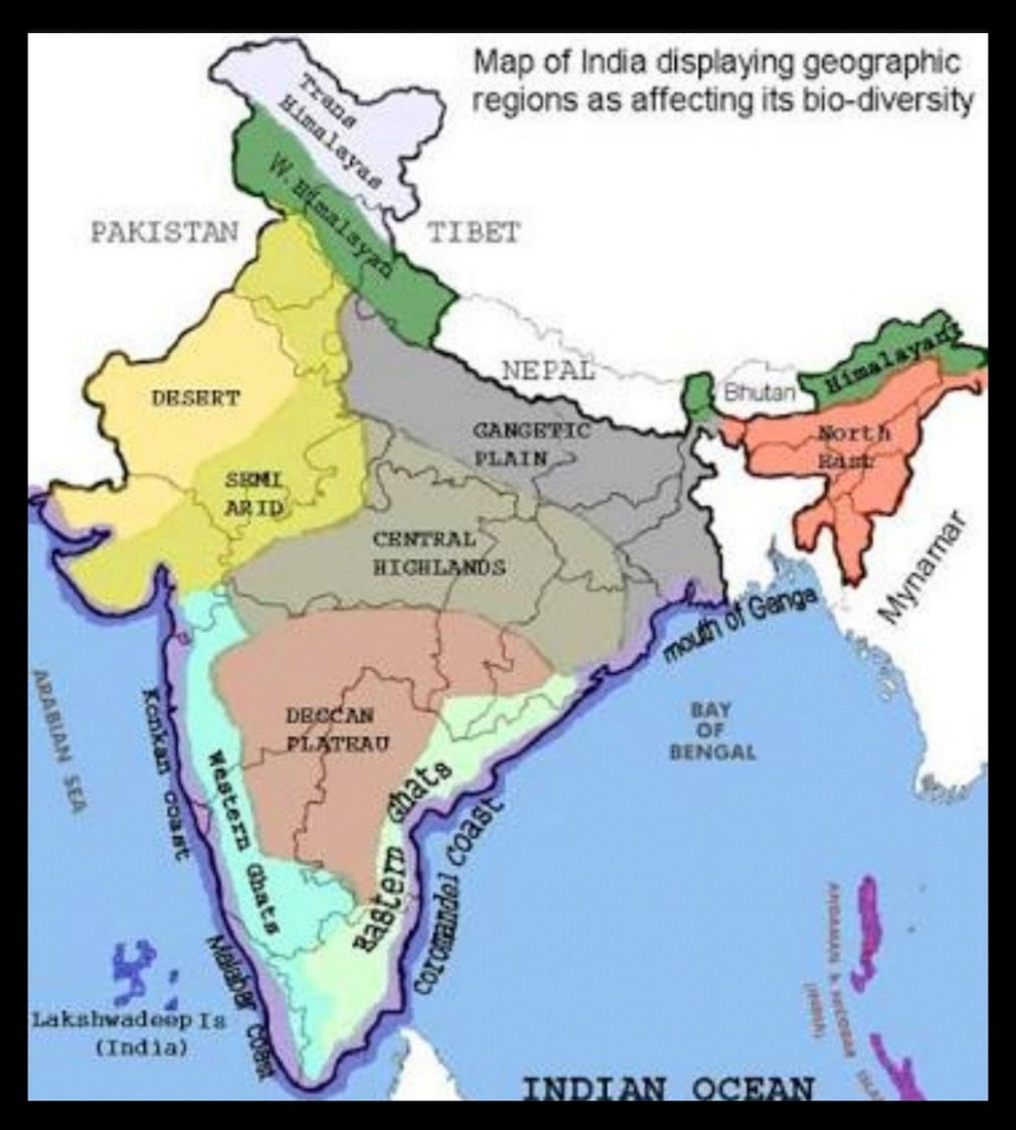 Where Should We Mark Peninsular Plateau On Indian Map Showing Its