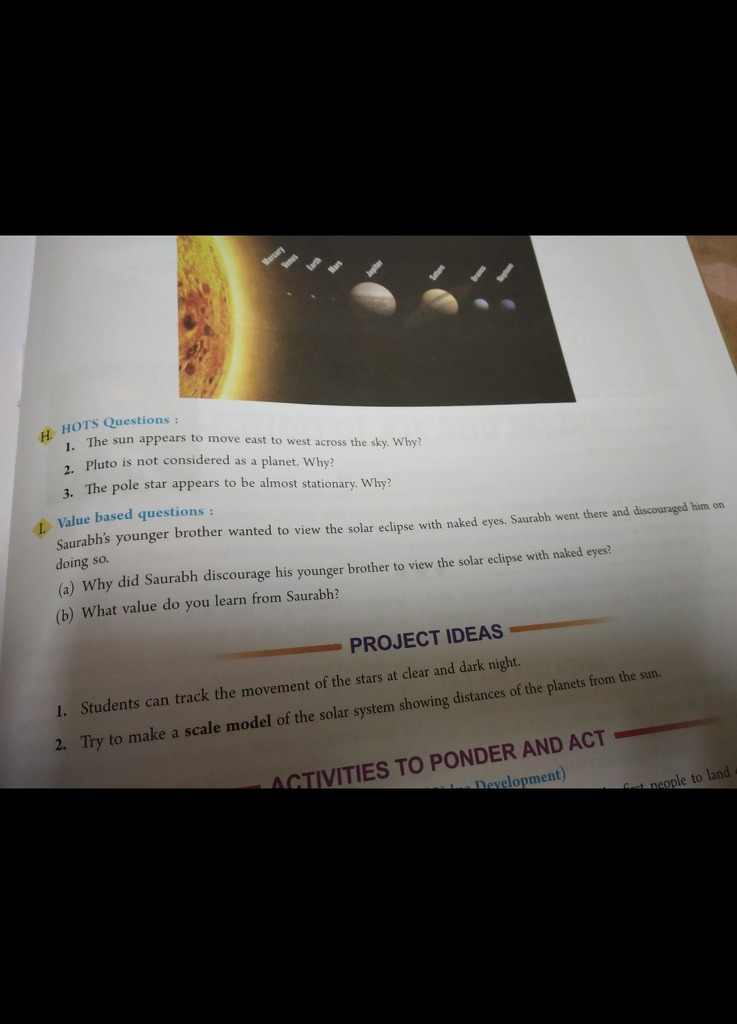 Please do the value based questions g Hors l sun appears to