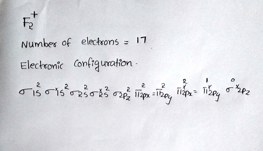 ground state electron configuration of f2 chemistry