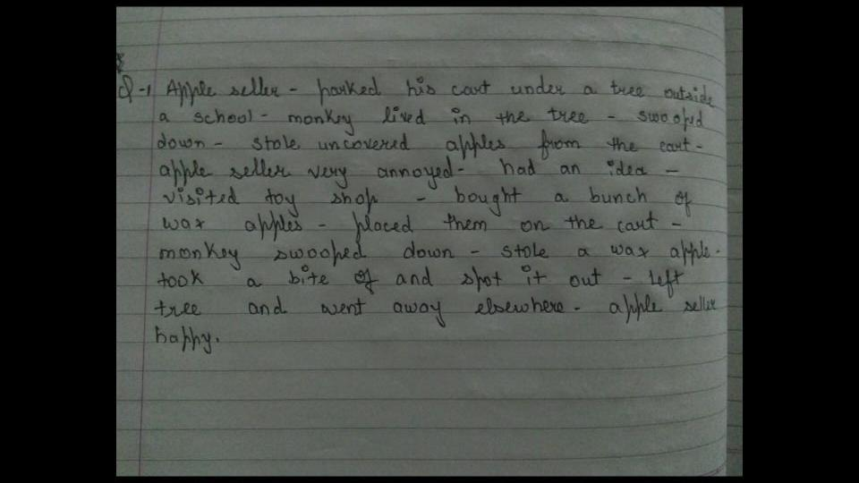Write a story These are the outlines :- bou YF_ bO 2 - English