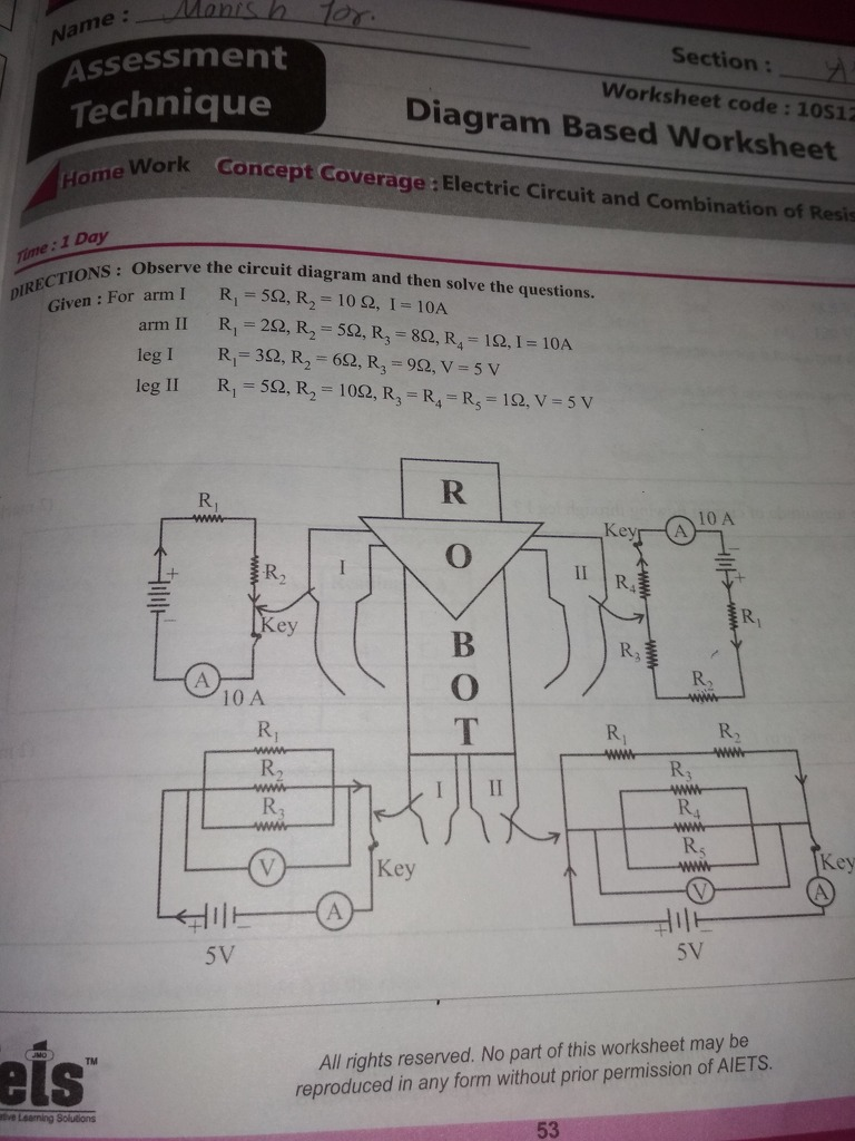 Elevate Learning For Life Book Solutions English 7880263 Grade 9 Circuit Diagram Worksheet Answer This Question