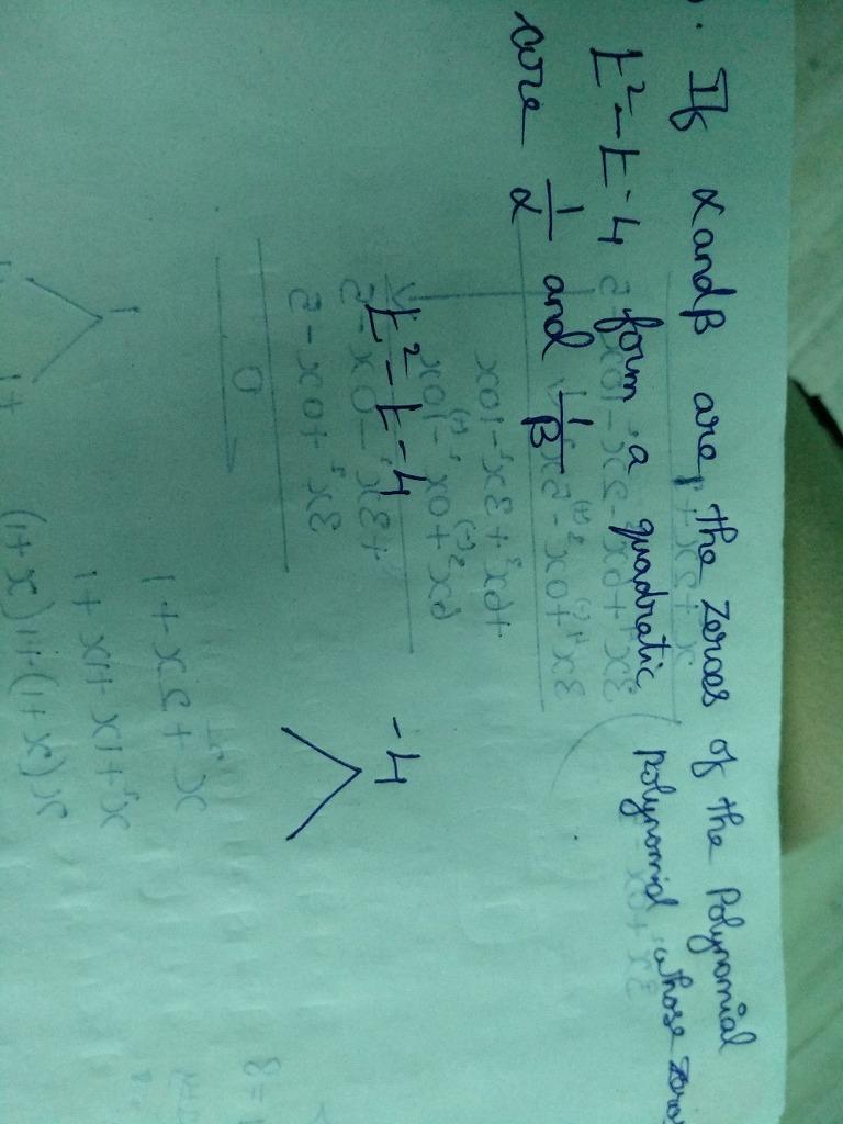 Polynomials, Popular Questions: CBSE Class 10 MATH, Math Ncert ...