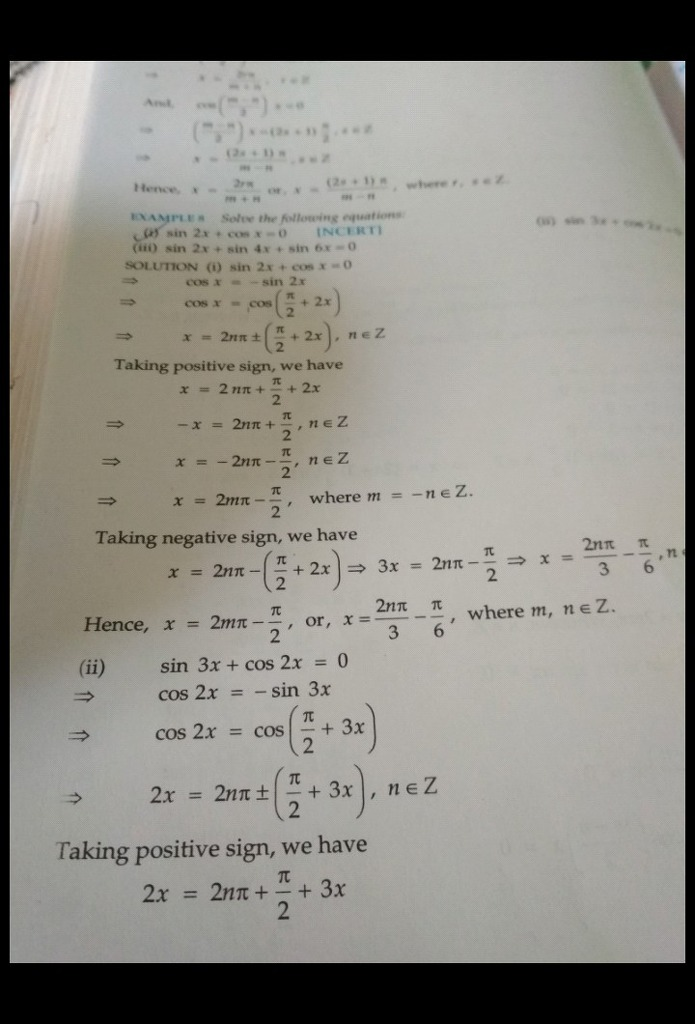 Find the general solution of sin2x + cosx = 0 - Math ...