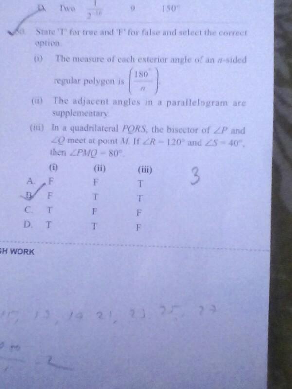 Ans 50 Pls Regular Polvpon S He Adlaecnt Parallelogram Orc