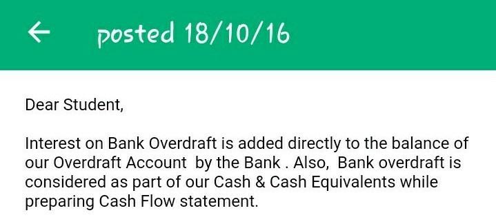 bank overdraft calculation