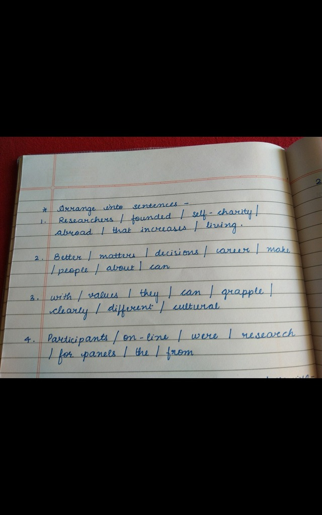 Sentence Reordering, Popular Questions: ICSE Class 8 ENGLISH