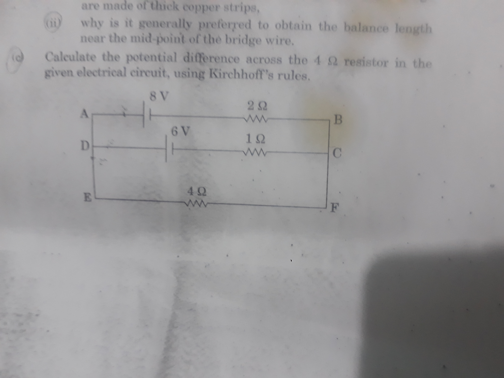 Potential Difference In A Circuit