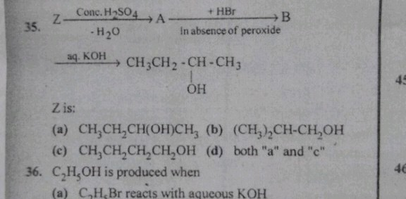 Pls help me in solving question no 35 z In absence of