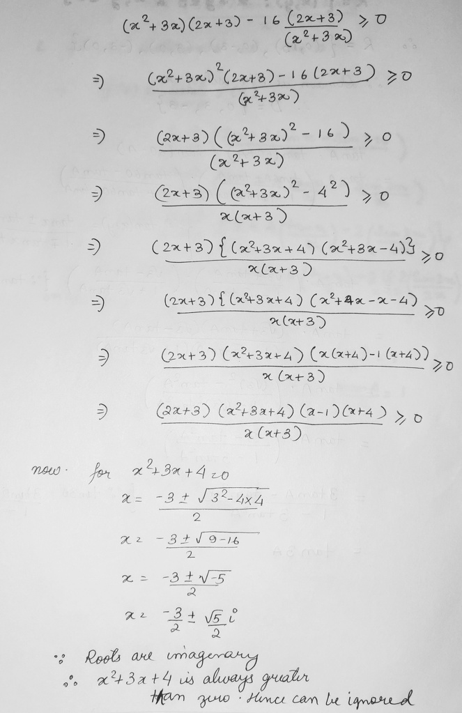 Solution Set Of X 2 3x 2 X 3 16 2x 3 X 2 3x 0 Math Relations And Functions 13758781 Meritnation Com