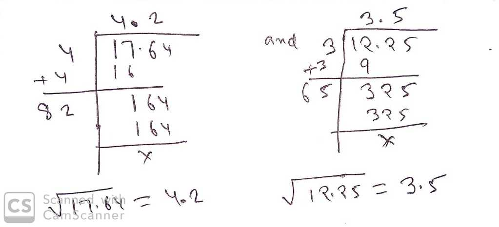 Find The Square Root Of 17 64 And 12 25 Math Squares And Square Roots 13900237 Meritnation Com