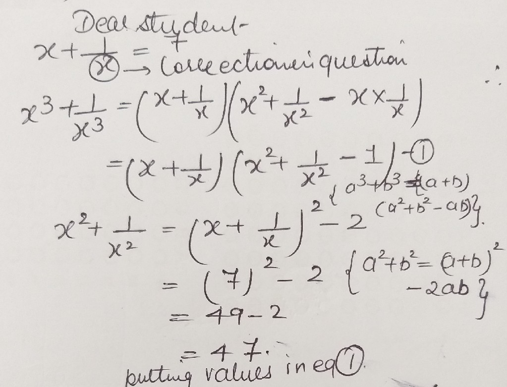 If X177 Findthevalue Of X31x3 Math Polynomials 13060079