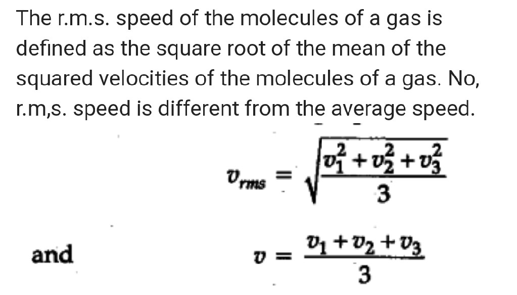 What Does Rms Mean >> What Do You Mean By R M S Speed Of Molecules Of A Gas Is