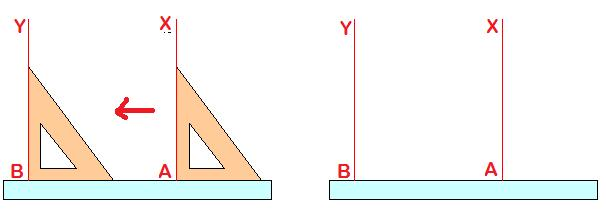 Drawing Parallel Lines With Set Squares : Can i draw parallel line using triangles or set square