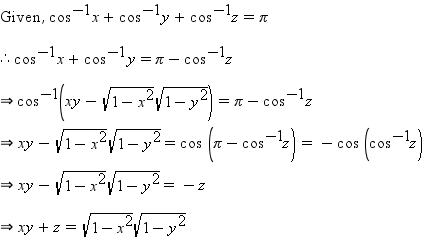 Q1=Find the anti-derivative of cot -1 (tanx) Q2=if cos-1 x+cos-1 ...