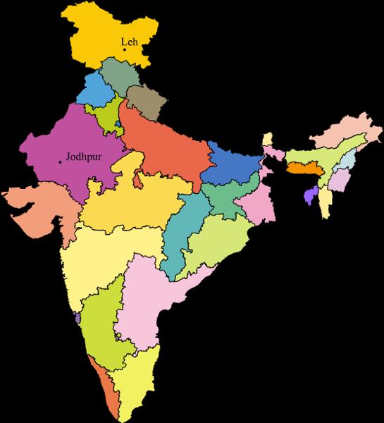 Map Of Metropolitan Cities In India