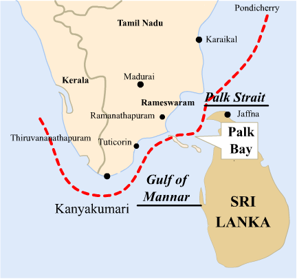 Image result for palk strait