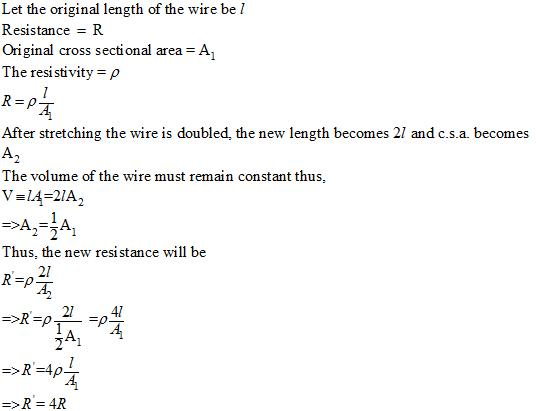 A wire of length l and area of cross section A ,was drawn into a ...