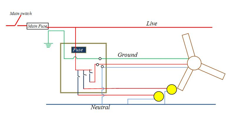 Draw A Circuit Diagram Showing 2 Electric Bulbs And 3 Pin Socket