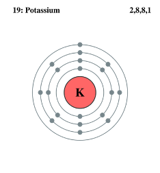 how we can draw the electron dot structure of potassium ...