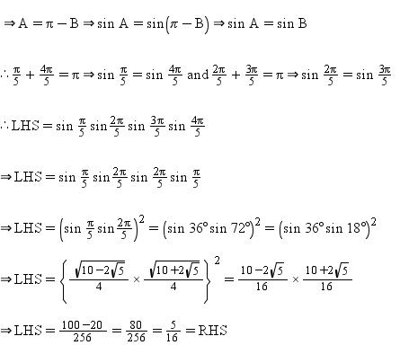 Prove That Sin Pi 5 Sin 2pi 5 Sin 3pi 5 Sin 4pi 5 5 16 Math Trigonometric Functions 2777254 Meritnation Com