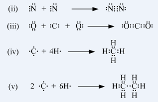 Pls tell the electron dot structure of- O2 N2 CO2 CH4 C2H6 ...