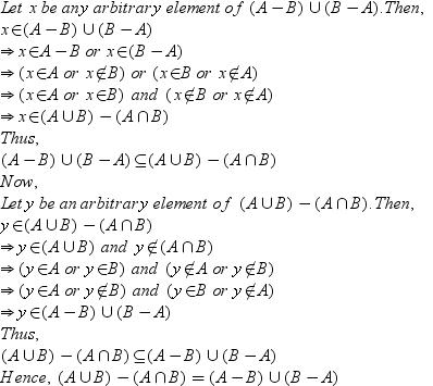 Prove That A B U B A A U B A Intersection B Math Sets