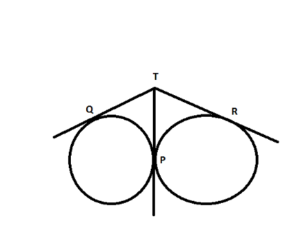 how to solve the radius of a circle when said circle is externally tangent to two other circles In euclidean plane geometry, a tangent line to a circle is a line that touches the  circle at exactly  since the tangent line to a circle at a point p is perpendicular to  the radius to  for two of these, the external tangent lines, the circles fall on the  same side of  the resulting line will then be tangent to the other circle as well.