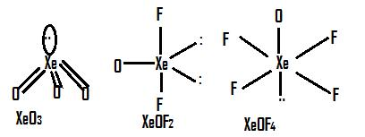 Draw structure of following compound XeF4, XeF6,XeO3,XeOF2 ...Xeo3 Lewis Structure