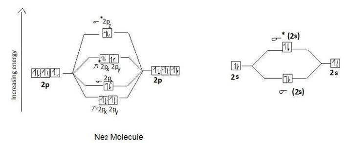 why Ne2 molecule does not exst - Chemistry - Chemical ... Diagram Of Neon Atom