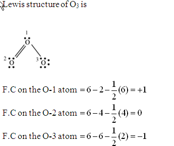 assign formal charges to each atom in the o3 molecule shown here