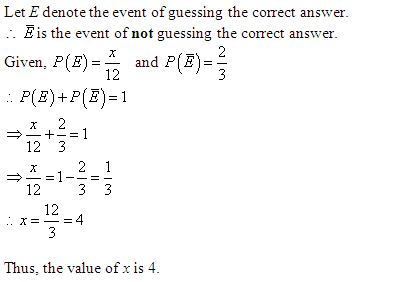 the probability of guessing the correct answer to a certain