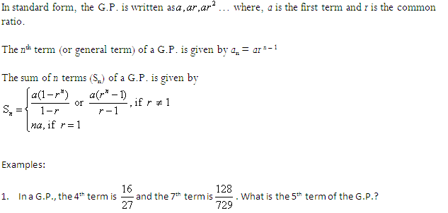 arithmetic and geometric progression question and answers pdf