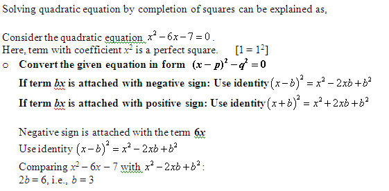 Explain With Some Examples Of Completing The Square Method 458310